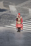 A Roman gladiator with sword. Royalty Free Stock Photography