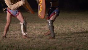 Roman Gladiator Thraex Versus Thraex stock video