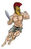 Roman Gladiator Warrior. An illustration of a muscular strong Roman Gladiator Warrior Royalty Free Stock Photography