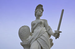 Roman goddess with the sword. A statue of a roman ancient goddess with the sword Stock Photography