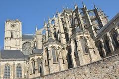Roman and gothic cathedral of Saint Julien at Le mans Sarthe, Pays de la Loire, France Stock Photo