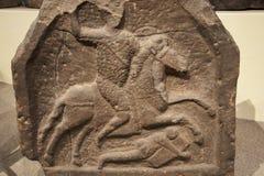 Roman Gravestone in Chester England stock foto's