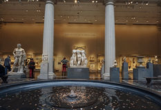The Roman and Greek Galleries and  Trevi Fountain at the Metropolitan Museum of Art Stock Photo