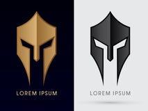 Roman or Greek Helmet. Illustration graphic vector royalty free illustration
