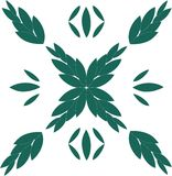 Roman green leaf. Roman style sheet made ​​with small leaflets , ideal for tiles and coatings stock illustration