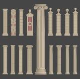 Roman grekisk arkitektur för pelarkolonn vektor illustrationer