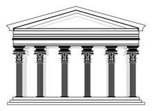 Roman/Griekse Vectorpantheontempel Stock Fotografie