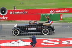 Roman Grosjean on Formula One Parade - F1 Photos Royalty Free Stock Photo
