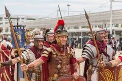 Roman Group histórico en la expo 2015 en Milán, Italia Fotos de archivo