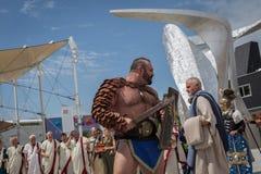 Roman Group histórico en la expo 2015 en Milán, Italia Imagen de archivo libre de regalías