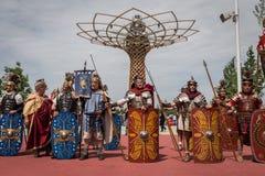 Roman Group histórico en la expo 2015 en Milán, Italia Imagen de archivo