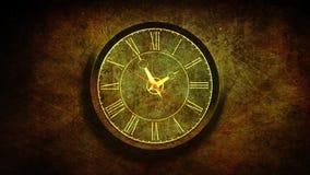 Roman Grunge Clock avec la boucle des particules 4K illustration stock