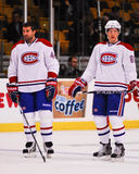 Roman Hamrlik and Lars Eller Montreal Canadiens Stock Image