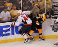 Roman Hamrlik and Patrice Bergeron. Stock Images