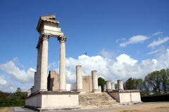 Roman harbor temple Stock Photos