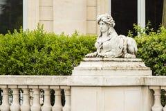 Roman Headed Sphinx Statue fêmea híbrido mitológico Fotos de Stock