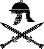 Roman helm en zwaarden vector illustratie