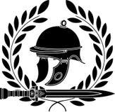 Roman helmet. Stencil. first variant.  illustration Royalty Free Stock Images
