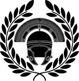 Roman helmet. Stencil. third variant. Vector illustration vector illustration
