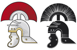 Roman helmet. Appearance of helmet that was used by Roman soldiers stock illustration