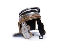 Roman Helmet antico Fotografia Stock