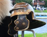 Roman helmet closeup Royalty Free Stock Photography