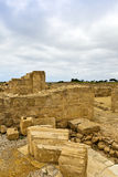 Roman heritage site in Paphos, Cyprus. Royalty Free Stock Photos