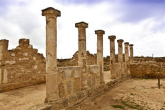 Roman heritage site in Paphos, Cyprus. Stock Image