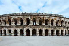 Roman historische Arena van Nîmes, de Provence, Frankrijk. Royalty-vrije Stock Foto