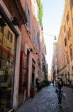 Roman Holiday Kaffe och shopping arkivbild