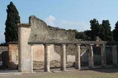 Roman house. Architecture of ancient urban building dating back to Roman found in archaeological excavations of Pompeii tourism office ditanto Stock Photo
