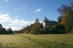 Roman house in weimar thuringia royalty free stock images