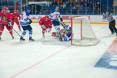 Roman Ilyin (97) scores a goal Royalty Free Stock Photos