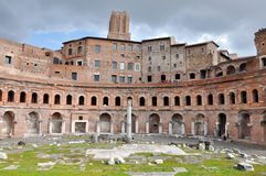 Roman Imperial forum of Emperor Trajan in Rome, Italy Royalty Free Stock Photos
