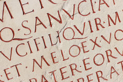 Roman Inscription Stock Photo