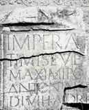 Roman inscription Royalty Free Stock Image
