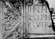 Roman inscription background Stock Photography