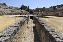 Roman Italica Ruins stock afbeeldingen