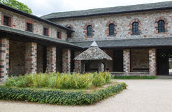 Roman kasteel Saalburg in de Duitse Taunus-bergen dichtbij Frankf Royalty-vrije Stock Fotografie