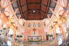 roman katolsk kyrka Royaltyfri Foto