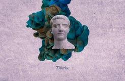 Roman keizer Tiberius royalty-vrije illustratie