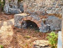 Ruins of Pompeii, ancient Roman city. Pompei, Campania. Italy. stock image