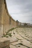 Roman kolommen in Jerash Royalty-vrije Stock Fotografie