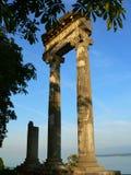 Roman kolommen, Nyon (Zwitserland) stock afbeelding