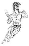 roman krigare royaltyfri illustrationer