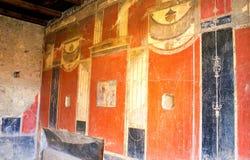 Roman kunst-ii-Pompei-Italië Royalty-vrije Stock Foto's