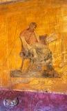 Roman kunst-v-Pompei-Italië Stock Afbeelding