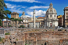 Roman landmarks. Forums Stock Photo