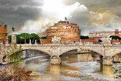 Roman landmarks, st Angelo Stock Images