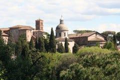 Roman Landscape. Roman buildings at Rome, Italy Stock Photography